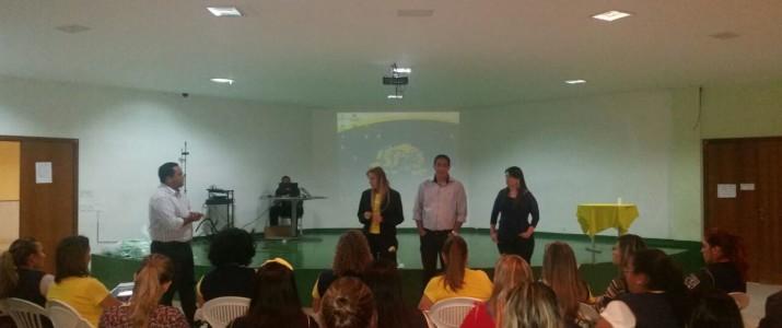 Diretoria do SINPROEP-DF visita professores da escola Ipê de Águas Claras
