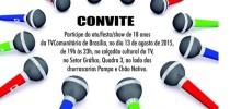 TV Comunitária de Brasília convida para comemoração dos 18 anos