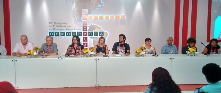SINPROEP-DF participa da abertura do 10º Congresso dos Trabalhadores em Educação