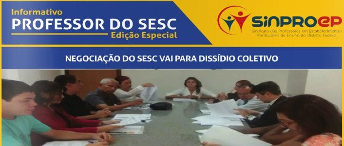 Sinproep lança jornal de edição especial do dissídio coletivo do SESC, confira: