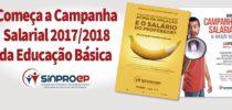 Começa a Campanha Salarial 2017/2018 da Educação Básica
